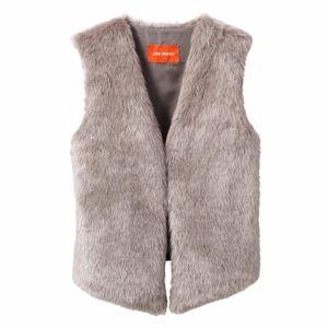 Joe Fresh Grey Faux Fur Vest